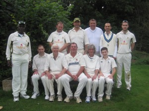 The 4th XI before their relegation-avoiding victory over Knebworth Park 5ths
