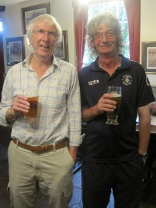 Chris Newell & Terry Neale celebrate the 4ths victory in the Lion