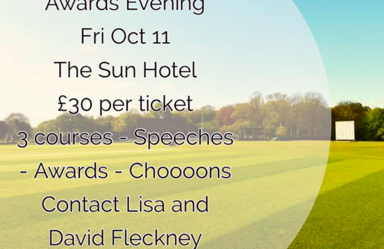 Annual Awards Dinner – Friday 11th October – The Sun Hotel
