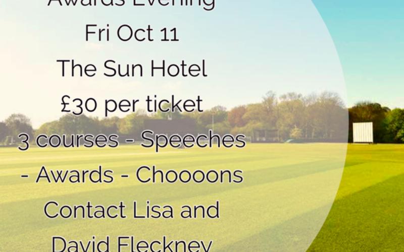 Annual Awards Dinner – Friday 11th October – The Sun Hotel