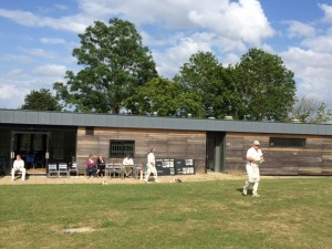 The Chairman makes his way out to bat at Whitwell