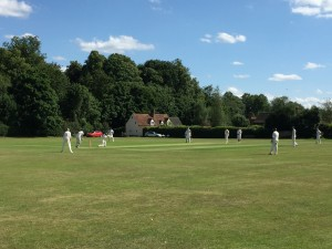 The Moretti brothers batting at the Field of Dream on Sunday