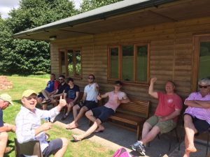 The Sunday 2nds relax before their match at Lilley