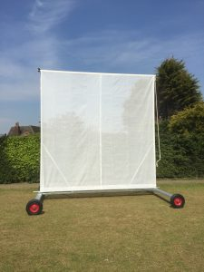 Brand new sightscreens for the new second ground at Whitwell