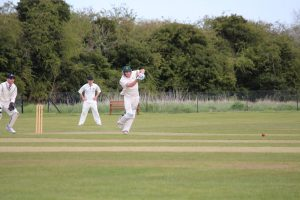 Justin Powick batting at Eaton Socon