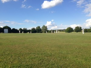 Chris Willis bowls his first overs for Preston 2nd XI at Kimpton